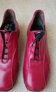 Red leather casual shoe